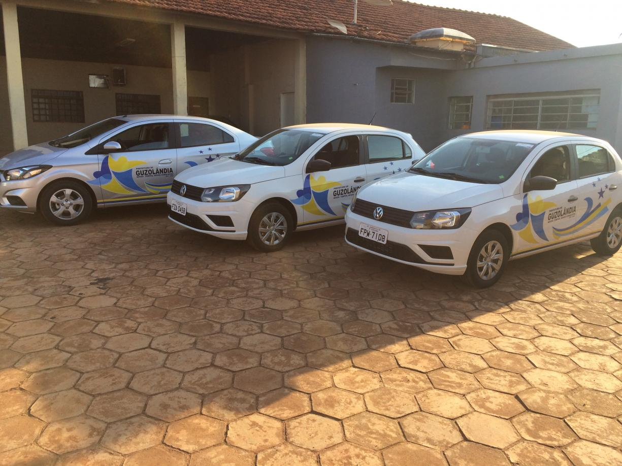 Novos veículos adquiridos pelo Departamento Municipal de Saúde.