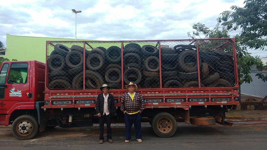 A Prefeitura Municipal de Guzolândia Realiza coleta e destinação adequada de pneus inservíveis.