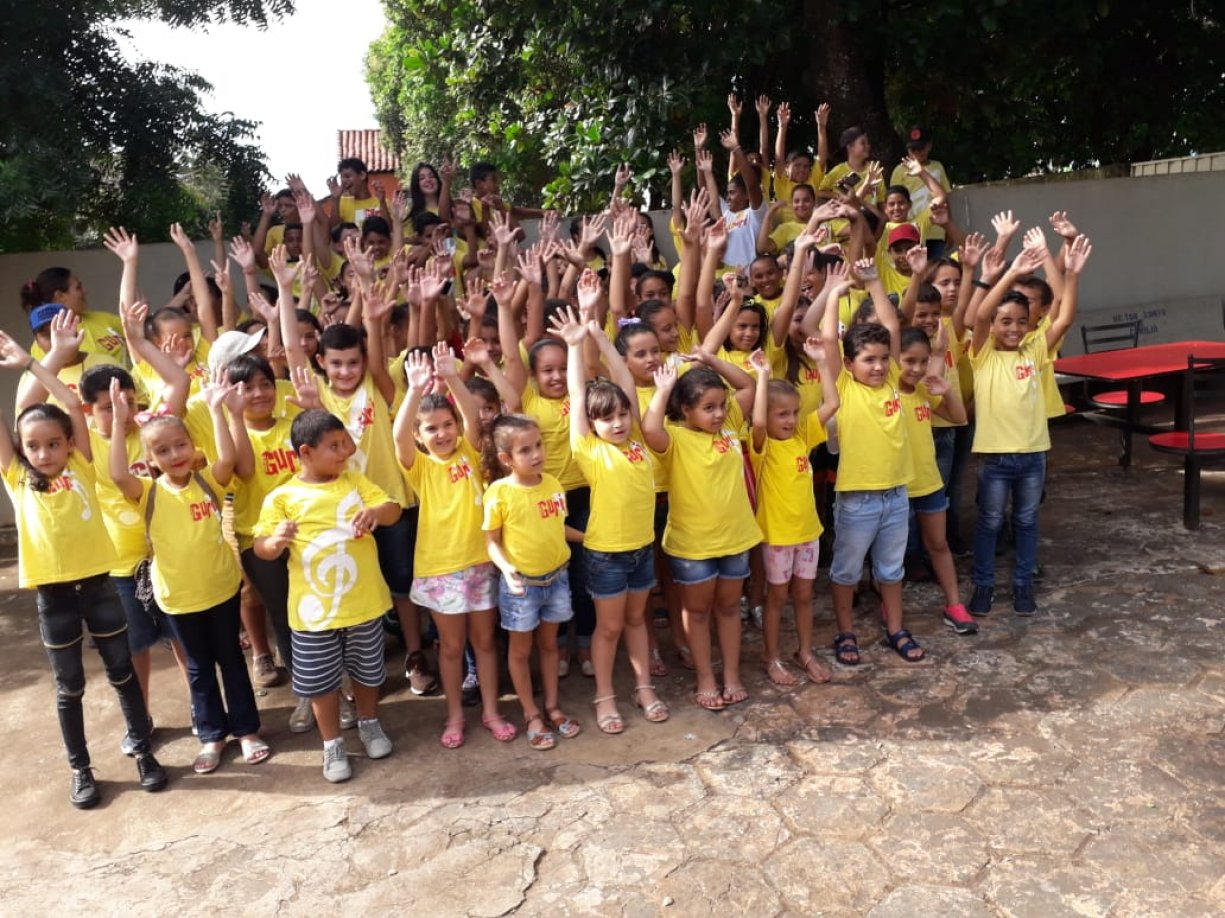 Alunos do Projeto Guri realizaram apresentação em Sud Mennucci