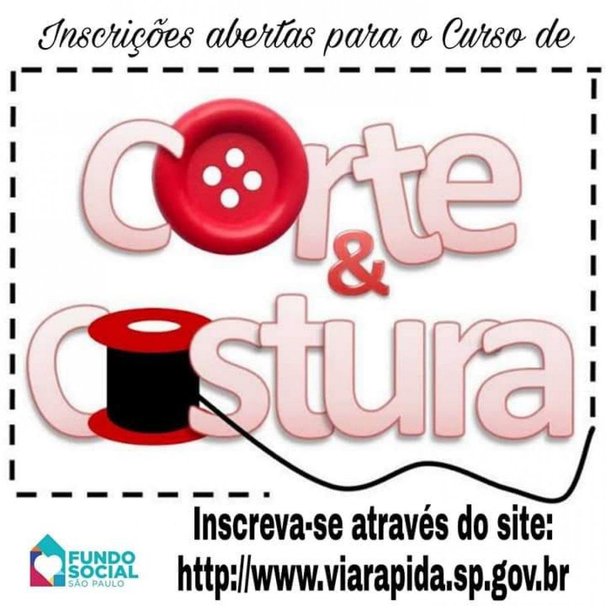 ATENÇÃO Prefeitura Municipal de Guzolândia juntamente com o Fundo Social de São Paulo traz para Guzolândia o Curso de Corte e Costura.